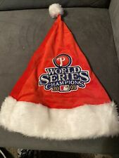 New listing FOREVER COLLECTIBLES 2008 PHILADELPHIA PHILLIES WORLD SERIES CHAMPIONS SANTA HAT
