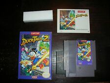 RARE Duck Tales 2 Complete NES Game W Box Manual NM CIB Nintendo Minty