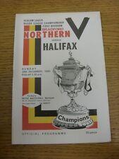 28/12/1980 programma Rugby League: BRADFORD Northern V Halifax. grazie per vie