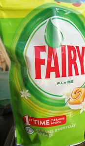 Fairy All In One Dishwasher Tablets Orange  (Choose from 2 - 15 Capsules)