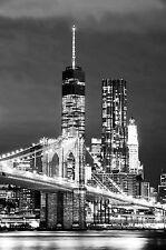 Impresionante Paisaje Urbano New York Skyline #506 Colgante De Pared Imagen Arte Lona A1