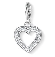 New Genuine Thomas Sabo Sterling Silver CZ Glittering Heart Charm 0018 £49.00