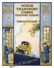 Photograph / Poster of  WWI US Army Motor Transport Corps Year 1919 11x14