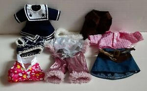 Teddy Mountain Bear 9 Piece Clothing Outfit Lot Rock Star, Cowgirl w/Fringe Vest