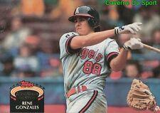 704  RENE GONZALES  CALIFORNIA ANGELS TOPPS BASEBALL CARD STADIUM CLUB 1992