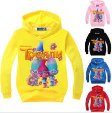 Trolls Boys Girls SweatShirt Kids Cartoon Hoodies Tops Cotton Blend Casual Coat
