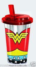 19702 Wonder Women Comics Superheroes 16oz Flip Top Acrylic Cup Drink Beverage