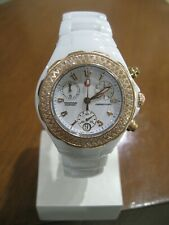 Michele Tahitian White Ceramic Diamond Watch  MW12A01 33mm