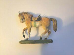Vintage Elastolin Germany Composition Toy Horse Hausser