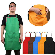 Plain Apron with Front Pocket for Chefs Butchers Kitchen Cooking Craft for Adult
