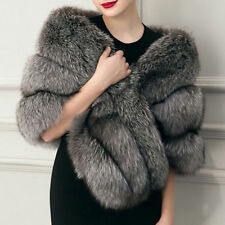 New Womens Winter Warm Luxury Faux Fur Coat Stole Wrap Party Wedding Scarf Shrug