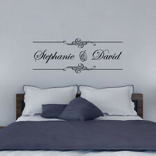 Script Personalized Name Wall Decoration Art Decal Couple Bedroom Wall Sticker