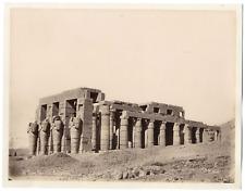 Sébah, Egypte, Thèbes, temple de Ramsès III  Vintage albumen print  Pascal Séb