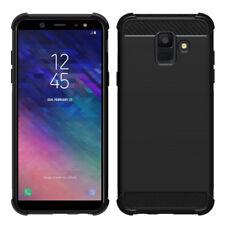 "Funda Protectora para Samsung Galaxy A6 (2018) 5.6"" Silicona Carbono Fibra"