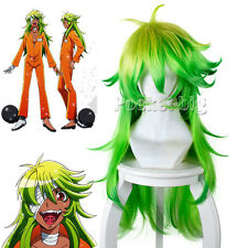 Nanbaka Detentionhouse Niko Cosplay Full Wig Gradient Green Long Fluffy Wigs