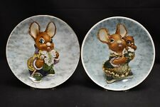 Pendelfin Pair of Collector Plates Father 9032 Mother and Baby 351
