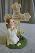 NEW A. Richesca Hand Painted Religious Spiritual Cross My First Communion Girl