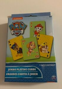 Paw Patrol Jumbo Playing Cards Ages 4+