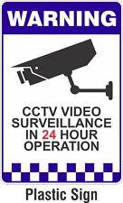 Warning CCTV Security Surveillance Camera Rigid Plastic Safety Sign 200x300mm