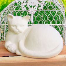 Kitty Cat Realistic 6x4 IN STOCK Ceramic Bisque Ready To Paint Pottery