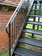 Wrought Iron  external  staircase , made in the UK ( Bespoke / Hand made )