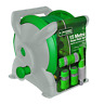 HIGH QUALITY 15M COMPACT GARDEN HOSE PIPE REEL SET WITH FITTING OUTDOOR WATERING