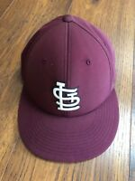 St Louis Cardinals Maroon Baseball Cap Fitted