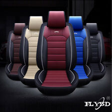 Fly5D Interior Car Seat Covers 5D Leather Breathable Front Rear 5-Seats Cushions