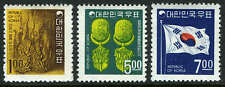 Korea 595-597, MI 605-607, MNH.Carving from King Songdok Bell,Earrings,Flag,1968