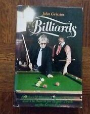 BILLIARDS by JOHN GRISSIM 1st Ed. 1979 hb dj