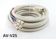 25' VGA Premium Male to Component 3RCA Male Cable for HD Projectors w/ VGA Input