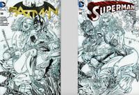 Batman #50  & Superman #50 ComicXposure Sketch Edition Variants (2 Book Set)