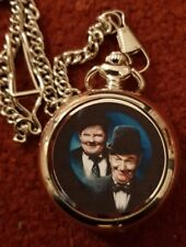 LAUREL AND HARDY   POCKET  FOB WATCH NEW 2