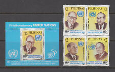 Philippine Stamps 1995 United Nations set & ss complete MNH