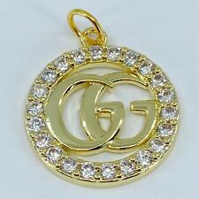 One Authentic GUCCI Button, 18K Gold Plated Metal, 24mm Designer Art Zipper Pull