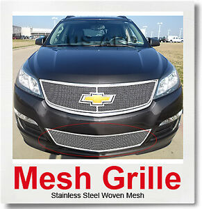 Fits 2013-2016 Chevy Traverse Stainless Steel Bumper Mesh Grille Insert