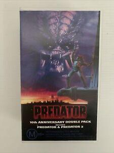 PREDATOR 1 & 2 10TH ANNIVERSARY DOUBLE PACK VHS Schwarzenegger Danny Glover
