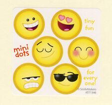 60 Emoji Mini Dot Stickers - Party Favors - Rewards