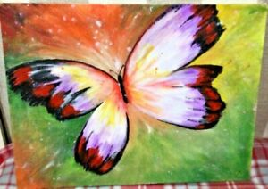 original acrylic paintings on canvas butterfly
