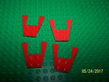 Lego 4x4 Plate Wedge Qty 4 (43719) - Red