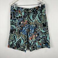 Hurley Mens Board Shorts Size 34/36 Multicoloured Drawstring