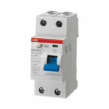ABB 2 Pole Type A Residual Current Circuit Breaker, 40A F202, 30mA