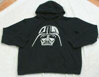 Star Wars Black White Darth Vader Long Sleeve Man's Hooded Sweatshirt Large J31