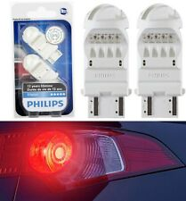 Philips Vision LED 4114 3157 Rouge Red Two Bulbs Brake Stop Tail Upgrade Replace