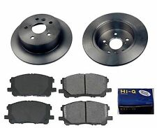 Rear Ceramic Brake Pad Set & Rotor Kit for 2007-2011 Toyota Camry