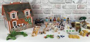Playmobil Bundle Take Along Horse Stable Barn Lots Of Animals