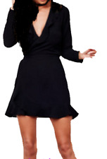 JOHN ZACK BLACK  WRAP FRILL DRESS