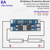 2S 8A 7.4V 8.4V Lithium LiPo Cell Li-ion BMS Battery 18650 Protection PCB Board
