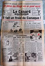 Le Canard Enchainé 9/01/1985; Drôle de drame dans la maison Dassault