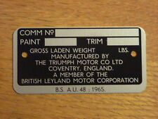 TRIUMPH SPITFIRE COMMISSION PLATE - FREE P&P TO UK